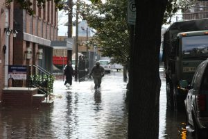 Flooding in New York City during Hurricane Sandy